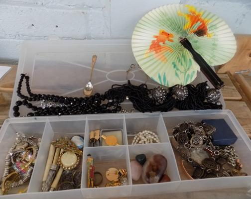 Collection of costume jewellery including silver