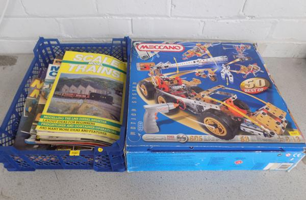 Meccano Motion system 9550 50 models complete user model magazines