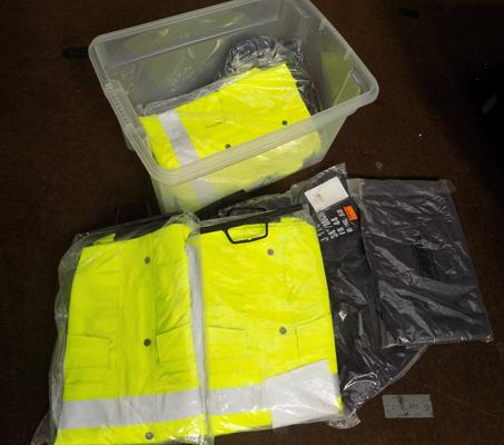 Box of new work wear