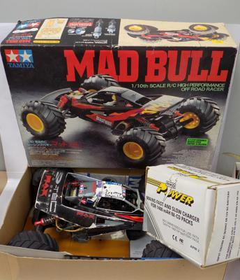 Mad bull 1/10th scale off road racer in box with charger