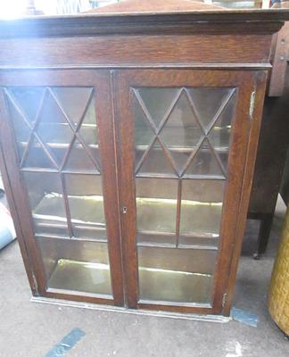 Vintage glass fronted bookcase/display stand