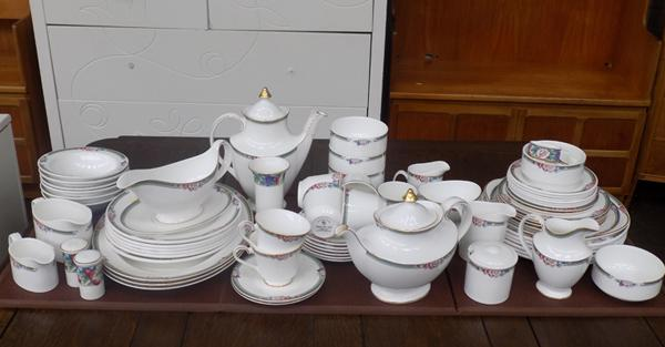 Large collection of Royal Doulton Orchard Hill dinnerware