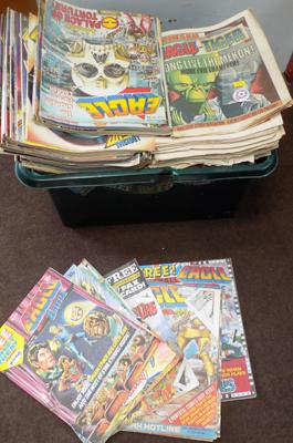 Large selection of vintage Eagle comics ranging from No.2 (1952) to late 1980's