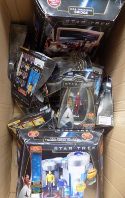Box of mixed Star Trek collectables