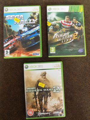 3 XBOX 360 games including Call of Duty