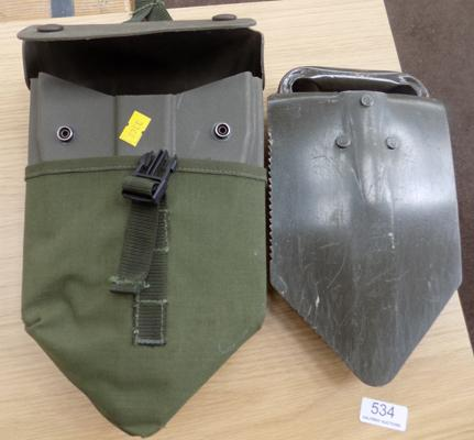 Army issue folding spade & case