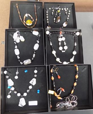 6 Boxed sets of hand made jewellery