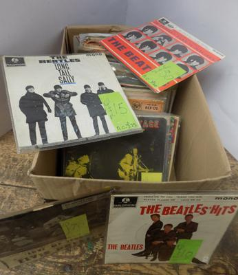 Box of collectable EP'S and singles