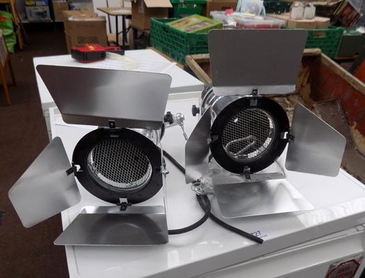 Pair of theatre lights for upcycling