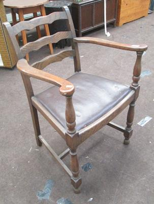 Wooden chair with arms