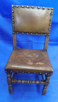 Leather backed banqueting chair
