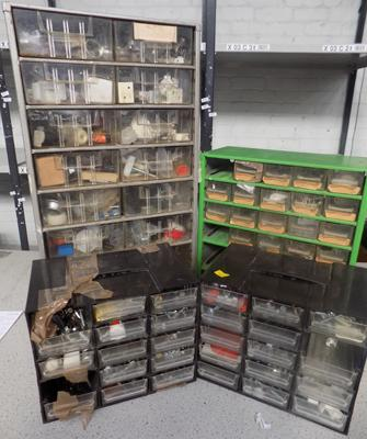 Four tool cases full of screws/bolts etc...