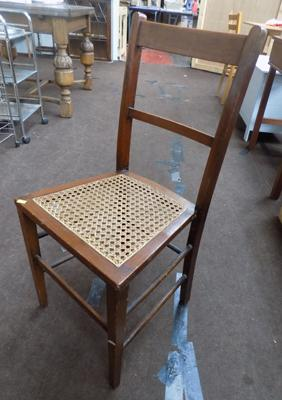 Dining chair, wicker fretwork seat