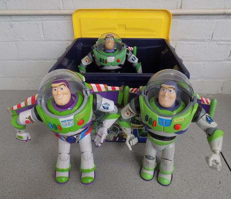 Toy story Andy's bpx and 3 large Buzz Lighyear