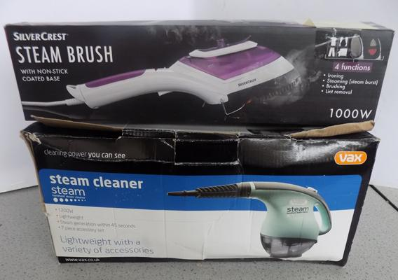 Boxed steam cleaner + steam brush in W/O
