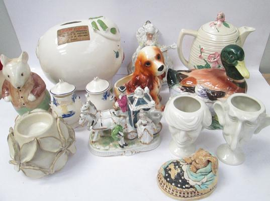 Selection of pottering including Wedgwood