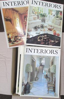 World of Interiors magazines, 30+ including First Issue, mainly 80's