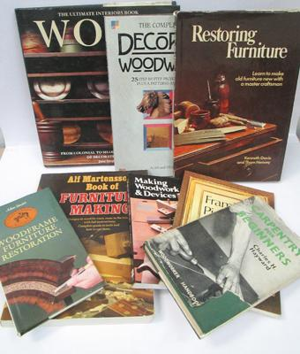 Collection carpentry/woodworking books
