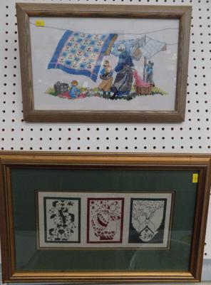 2 needle point pictures