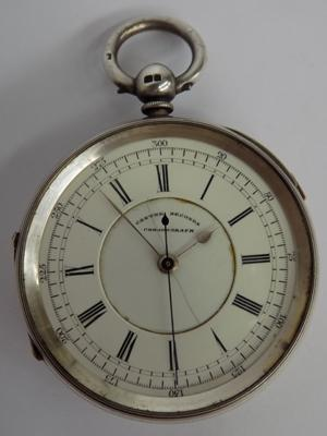 Manchester 1901 chronograph Fluealle pocket watch