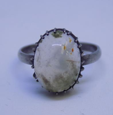 Vintage silver ring with gemstone