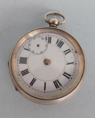 Silver cased pocket watch - no hands