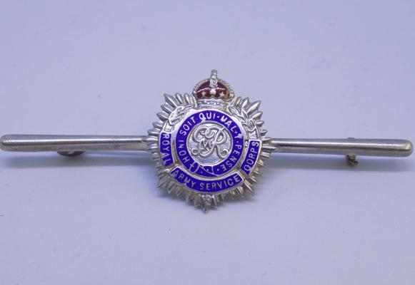 Vintage sterling silver and enamel Army cap brooch