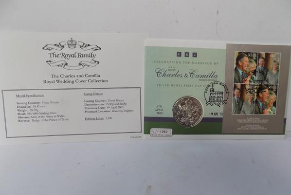 Silver 1oz proof medal cover 2005, issue No. 1082