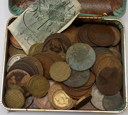 Small selection of coins and notes