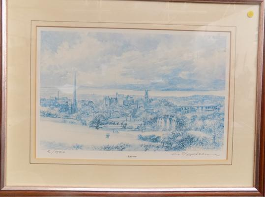 "Framed signed print of Lancaster (ltd.Edition) 8/500 by Christopher Stephen   18"" x 13"""