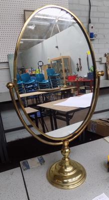 Brass 'Made in England' mirror