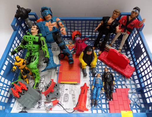 80's misc figures including; Centurions/Karate Kid & Ghostbusters