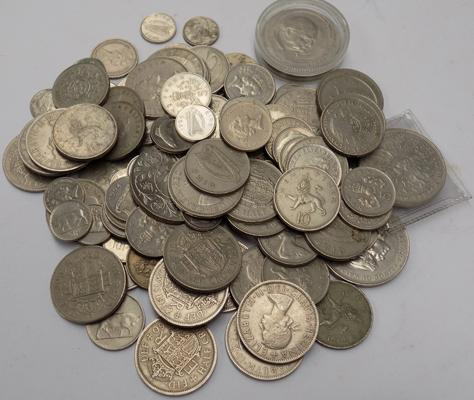 Large lot of mixed English pre decimal coins