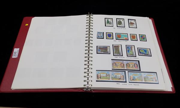Well presented album of Channel island stamps - face value £125+