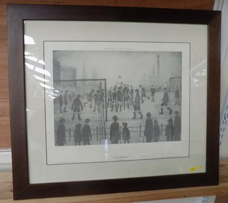 'The Football Match' L S Lowry print