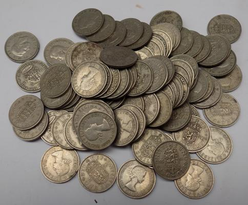 Approx 100 Shilling coins