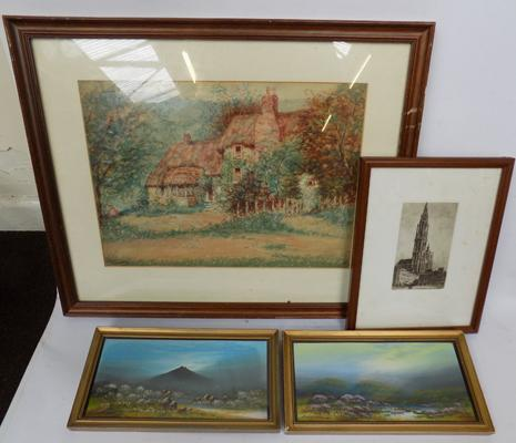 Selection of watercolours, Albert Chanler & Frank Holmes