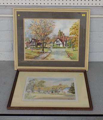 Norman Botterill 'Country Cottage' watercolour