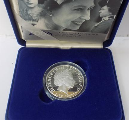 2006 silver proof £5 in box with Certificate of authenticity