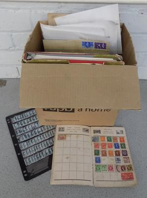 Box of mint & used stamps, albums etc...