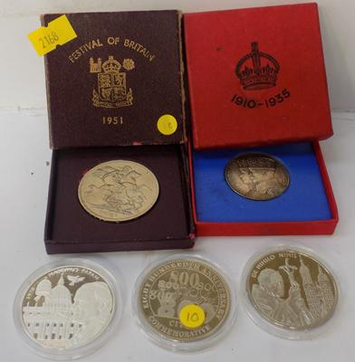 1951 crown coin + other coins