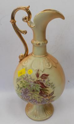 "Austrian vintage pottery jug decanter - 11"" tall (complete)"