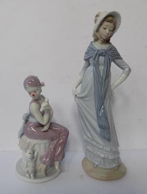 Lladro Nao figurine and 1 other - damage to other