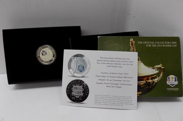 Rare Ryder Cup 10z pure silver coin