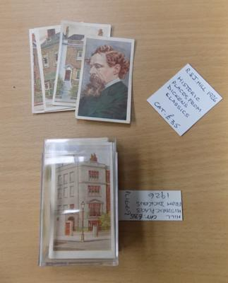 RJ Hill historic places from Dickens Classics cigarette card set - 1926