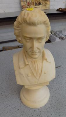 Resin bust of Mozart