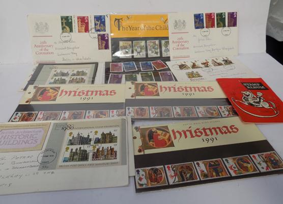 Job lot of collection of stamps