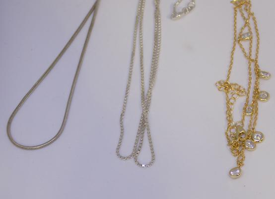 3 x 925 silver chains/necklaces