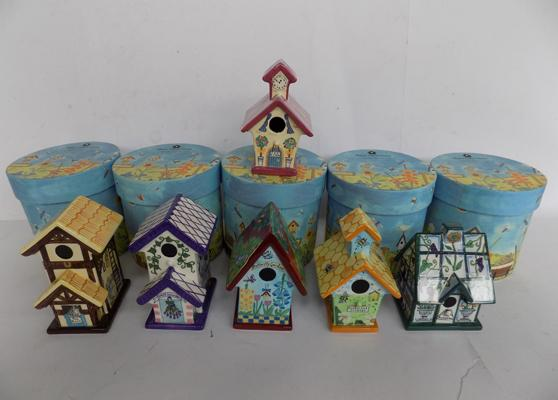 Six Royal Doulton miniature houses - five with original boxes