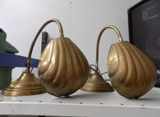 Two Bendy Banker's shell lamps